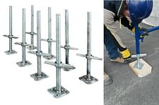 Adjustable 24in Steel Leveling Scaffolding Screw Jack Set with Base Plate 8 Pack