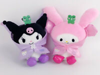 "2X Sanrio Kuromi My Melody Anime 5"" Toys Halloween Stuffed Animal Christmas gift"