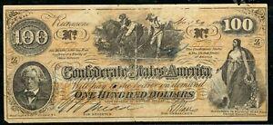 Weeda Confederate States of America CSA 1862 $100 Richmond, VA Reproduction
