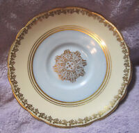 Royal Stafford Bone China Saucer Made in England Numbered Cream Blue Gold no Cup