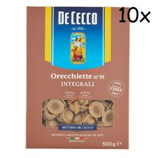 10x Pasta De Cecco Orecchiette integrali 91 Vollkorn italienisch Nudeln 500 g