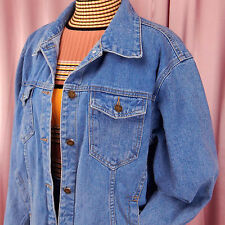Denim Oversized Medium Wash Vintage Jacket