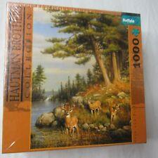 Hautman Brothers Deer and Pines Puzzle 1000 Piece New Sealed Bonus Diagram