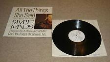 "Simple Minds All The Things She Said 12"" Single A1U B1U Pressing - VVG"