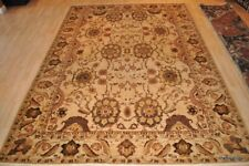 9x12 ft. TOP QUALITY Vegetable dyed  rug Cream beige, GRAY, Agra design WOOL rug