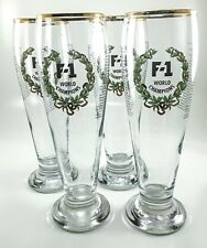 F1 Formula One Racing Gold Rim Beer Glasses World Champions 1950-1998