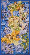 Dusk Till Dawn Flower fairy Panel 100% Cotton Quilting Fabric  DC6437 Nite