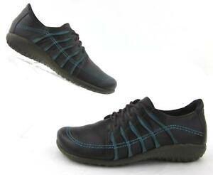 NAOT Tanguru Lace Up Oxfords Shoes Brown / Teal Leather EU 38 US 7