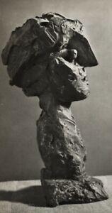 1949 Brassai Original Photo Gravure Of Picasso 1943 Bronze Art Sculpture Head