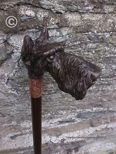 Walking Stick - Cold Cast Bronze 'Abstract Scottish Terrier'. Arts & Crafts