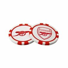 Arsenal Football Club Crest Poker Chip Style Golf Ball Markers with Free UK P&P
