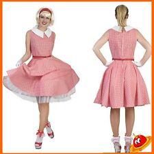 Costume Carnevale Donna Ragazza Abito Grease Sandy Barbie Anni 60s 50s Tg 36-46
