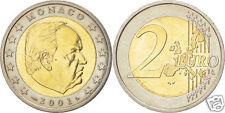 manueduc  MONACO 2 euros 2001 RAINIER  III  Sin Circular