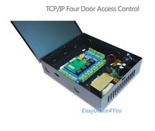 4-Door RFID RFIC TCP/IP Access Control Board with Power Supply Box