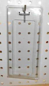 """100 clam shell 2 1/4"""" x 5 3/4"""" clear plastic retail hang sell display packages"""