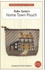 Yoko Saito Home Town Pouch PATTERN Japanese Patchwork Quilt Template ENGLISH
