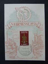 SAAR MK 1956 368 SAARMESSE ERSTTAGS-KARTE CARTE MAXIMUM CARD MC CM a8009