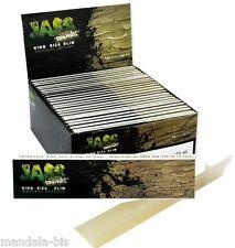 JASS SLIM Brown - Lot de 50 Carnets (Non Blanchi) - PROMO Point Relais !
