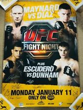 NATE DIAZ! UFC FIGHT NIGHT 20! (SBC!) AUTO/SIGNED (29X37) FULL SIZE POSTER! /125