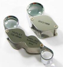 30X+20X&10X Triplet Magnifier Jeweler Jewelry Eye Loupe