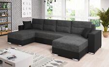 Couchgarnitur Sofa Sofagarnitur CLARA U mit Schlaffunktion Wohnlandschaft NEU