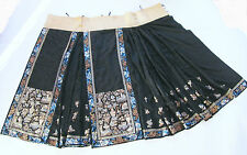 Antiker Rock Seide China Qing  chinese skirt silk brocade embroidered taoist