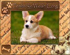 Pembroke Welsh Corgi Laser Engraved Wood Picture Frame (5 x 7)