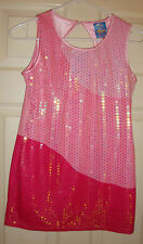 HANNAH/MONTANA~girl's~GORGEOUS/3/SHADES/OF/PINK/w/SEQUINS/DRESS! (M~10/12) NEW!