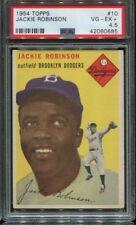 1954 TOPPS #10 JACKIE ROBINSON BROOKLYN DODGERS CARD PSA 4.5 VG/EX+