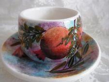 Tasse und Untertasse Handmalerei Granatapfel Griechenland Porzellan Steingut