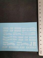 DECALS 1/43 CIRQUE JEAN RICHARD BLANC - VIRAGES T469