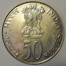 1974 India 50 Rupees  F.A.O. Food For All - Uncirculated Condition - 50% Silver