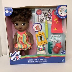 Baby Alive Finger Paint Baby Magical Painting Drinks Pees African American Doll