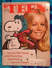 Teen magazine 1969 Seventeen Model ! Snoopy Peanuts Fashion W Iconic Rare Ad