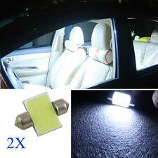 Alta temperatura 2x 31MM 12V 3W LED COB Siluro Bulbo Interno Auto/