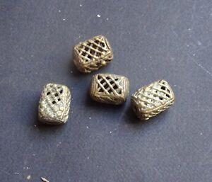 Perlen Bronze Ashanti Bead Messing Farben
