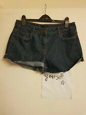 ladies blue denim shorts size 12 by George