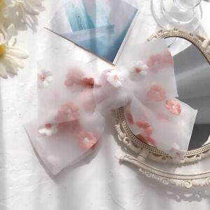Romantic Organza Bow Hair Clip Elastic Hair Tie Ponytail Net Yarn Rubber Bands