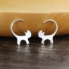 Fashion Women Long Tail Cat Stud Earrings Lovely Cat Earring Jewelry Gifts
