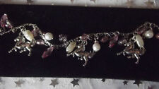 Handmade Pearl Mixed Metals Costume Bracelets