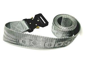 Mens grey adidas Webbing canvas Belt one Size quick release Buckle Belt fashion
