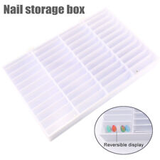 Nail Tips Storage Box 44 Compartments Nail Art Decoration Container Display Case