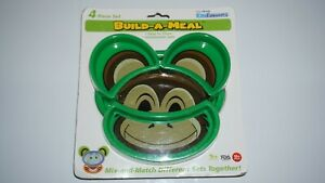 Urban Trend Kids Funwares Build-A-Meal Dinnerware Set - Monkey