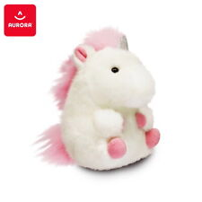 AURORA Soft Plush Toy Rolly Pet Unicorn Stuffed Animal Plush White Pink 5,5""