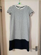 White striped Coralie Jersey dress by boden size 10 R ww237