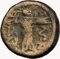 LARISSA Thessaly THESSALIAN LEAGUE 196BC Athena Apollo Greek Coin i43495
