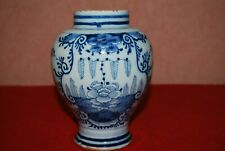 VERY OLD ANTIQUE CHINESE POTTERY VASE-URN VASE-BLUE & WHITE