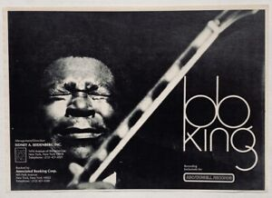 BB KING vintage 1970 Promo ADVERT DUNHILL RECORDS Sidney Seidenberg