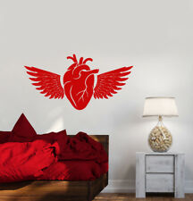 Vinyl Wall Decal Heart Organ Bird Wings Feathers Stickers (2935ig)