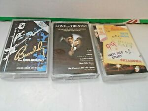 cassettes. 3xmusicals.buddy holly story/hits from musicals/love from the theatre